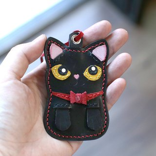 Cat - Black Cat Handmade Leather Charm