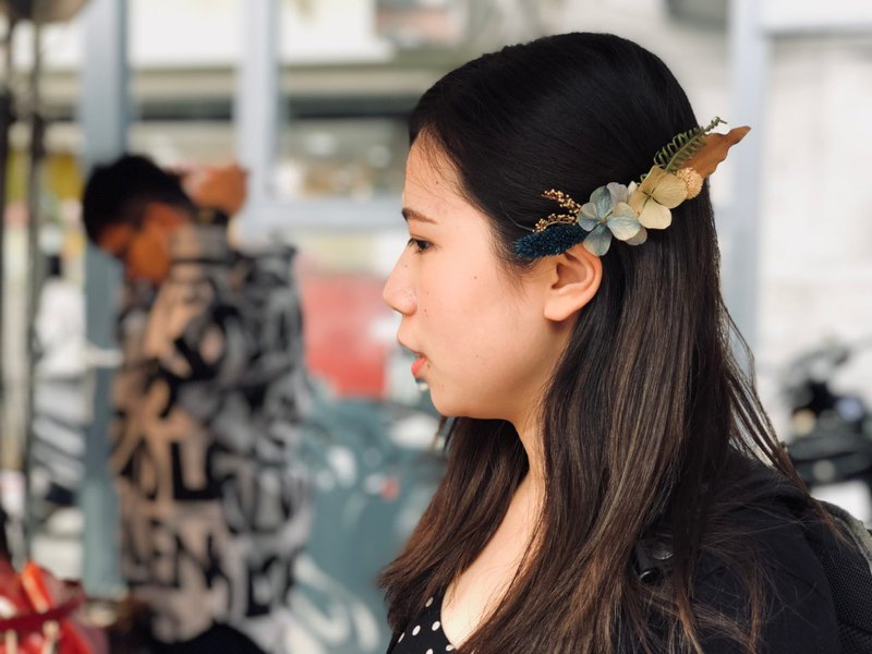 [Customized dry flower hair accessories] spring flat clip