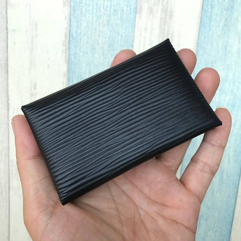 Black Epi leather cardholder