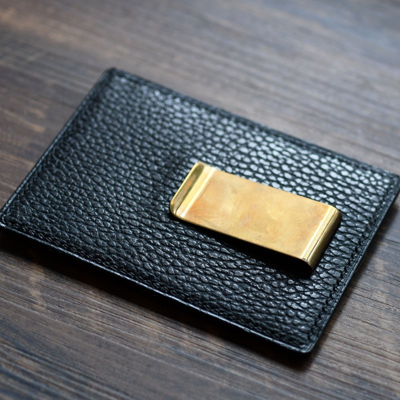 Handmade leather card holder wallet custom card holder