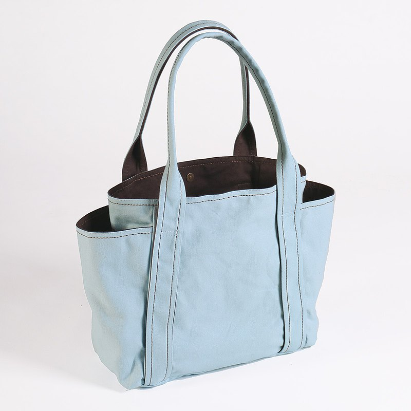 Magnetic buckle type / shoulder canvas universal tool bag-baby blue (medium)
