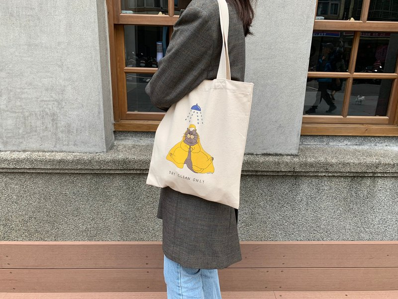 [Tote bag] Dry Clean Only cat shoulder canvas bag