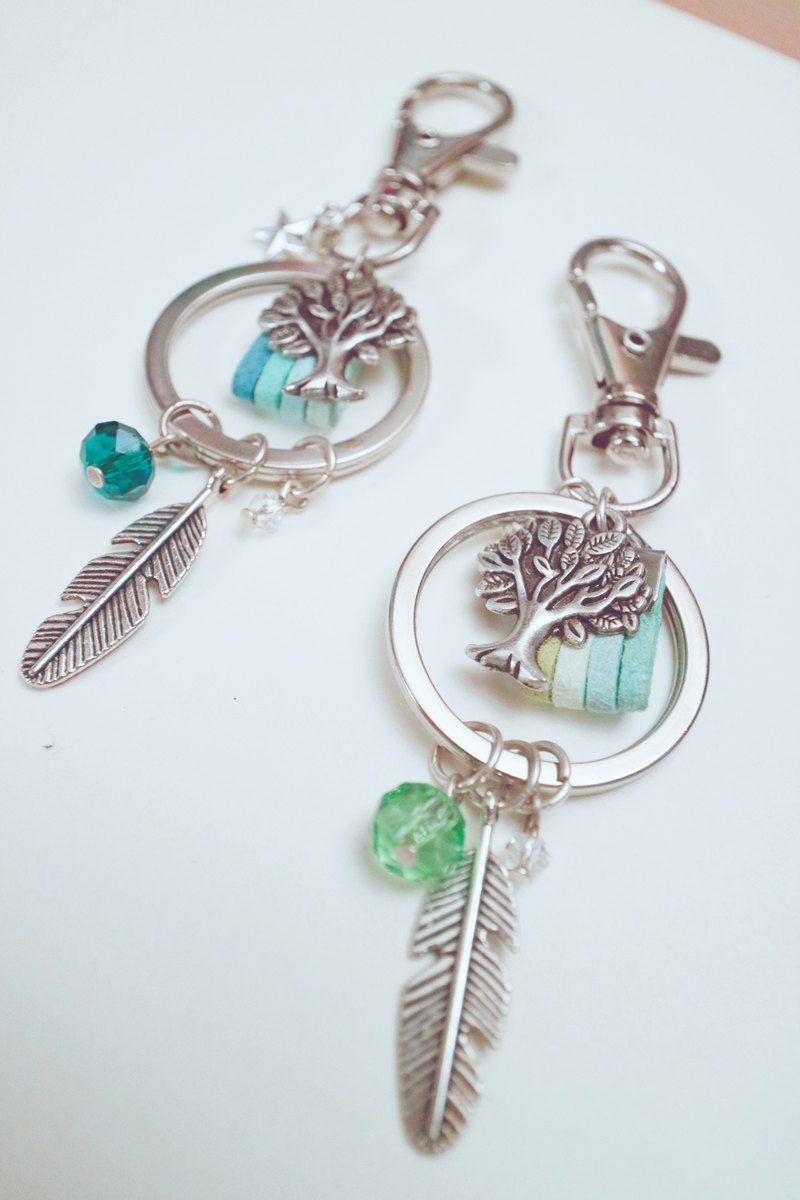 [Blessing Gift] Elf Little Tree Hand Made Exclusive Design Memorial Key Ring Texture Custom