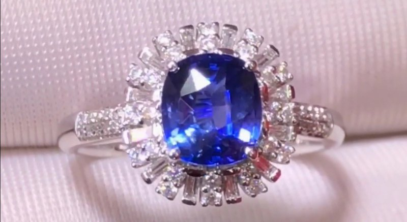 Natural Cornflower Unburned Sapphire 1.61 Carat Bare Stone with International Certificate