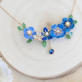 Aramore blue line copper flower hanging stellar stone necklace ﹝ 单 production ﹞