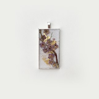 Autumn Purple + Gold 07 _ 013 _ _ Plum impression _ flowers _ the only original jewelry using plant
