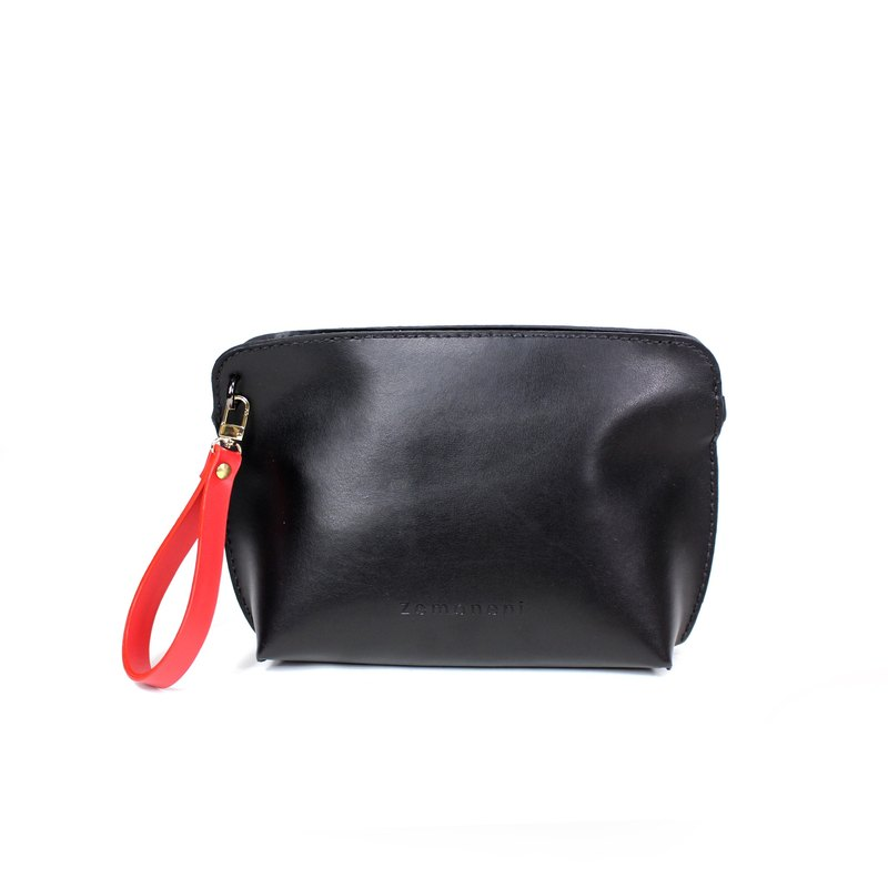 Zemoneni leather lady cross body shoulder bag with hand carry strap
