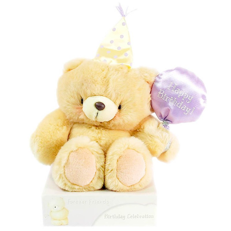 "8 ""/ Happy Birthday Fur Bear [Hallmark-ForeverFriends Fluff - Birthday Series]"