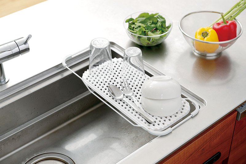 Japan LIBERALISTA sink flat multi-function drain tray - a total of two colors
