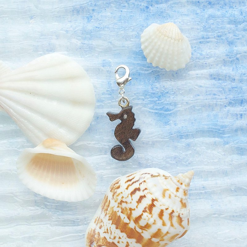 Sea horse wooden charm