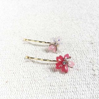 Sakura soft, small cherry, a small side folder, bangs folder, a pair of hairpin - white
