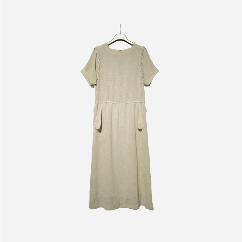 Dislocation vintage / twist simple dress no.1124vintage