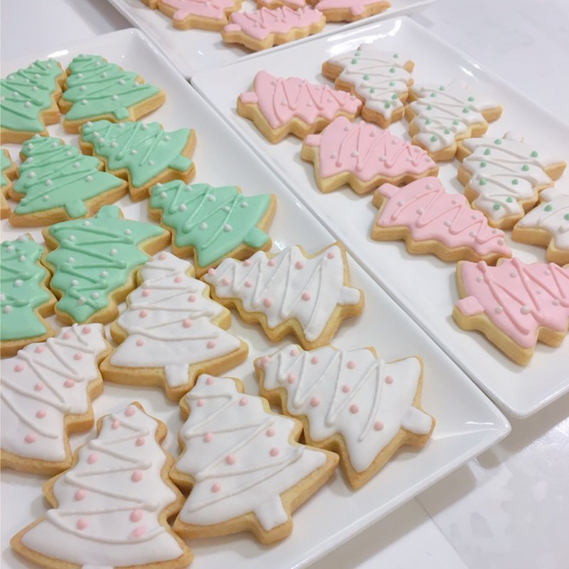 CH Bakery Christmas custom icing cookies