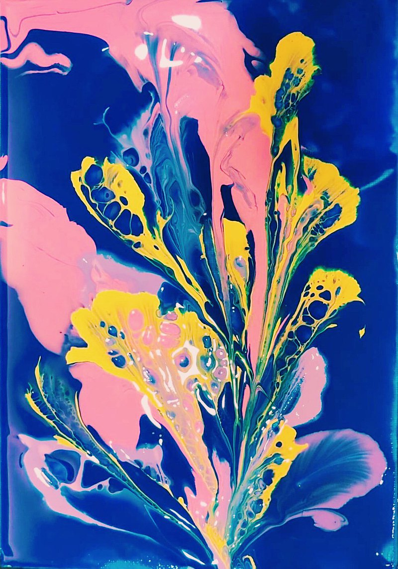 【Workshops】Comfortable Fluid Art Experience-The Flower Talk [Two in a Class]