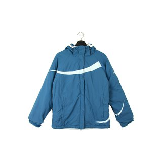 Back to Green :: Windbreaker cotton jacket Columbia Steel Blue / / Unisex / vintage outdoor (CO-05)