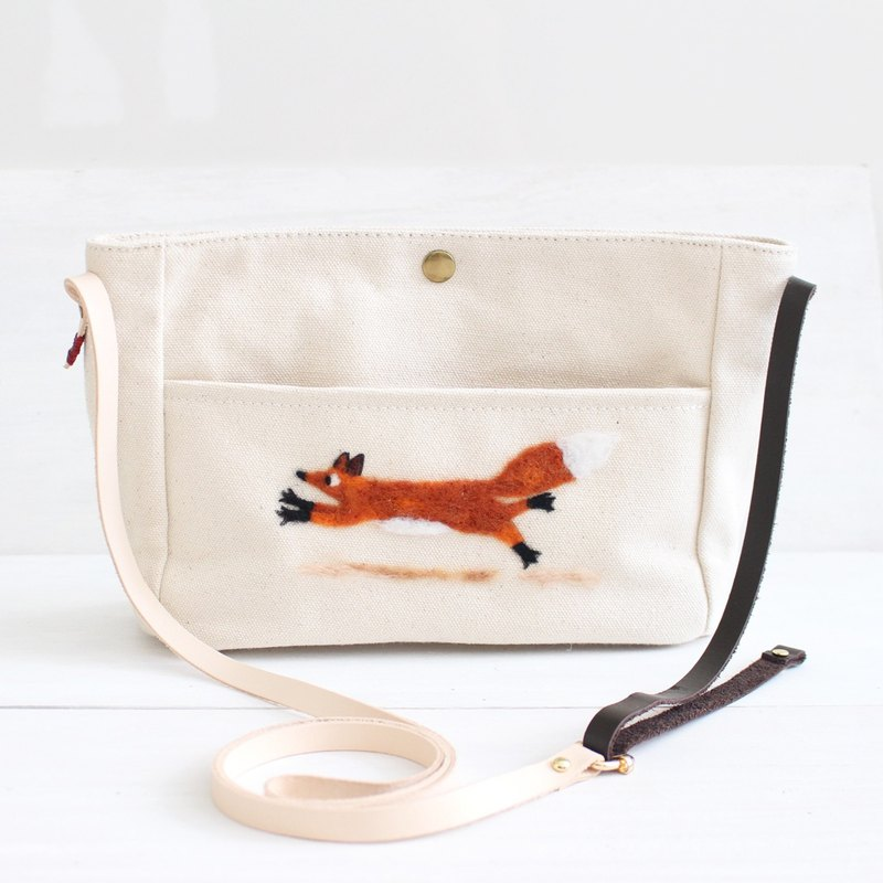 Fox Crossbody Bag, Purse, Canvas Bag I Fox's Love
