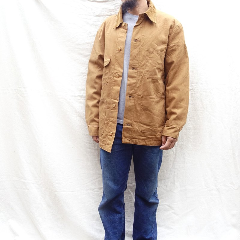 BajuTua / Vintage / Wrangler Khaki canvas brushing coat