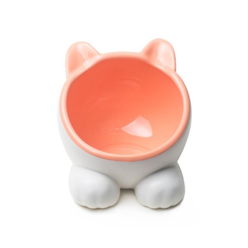 ViviPet Big Cat Model Water Bowl - Pink Orange