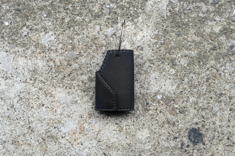 Tangential key ring / key bag handmade hand-stitched yak leather