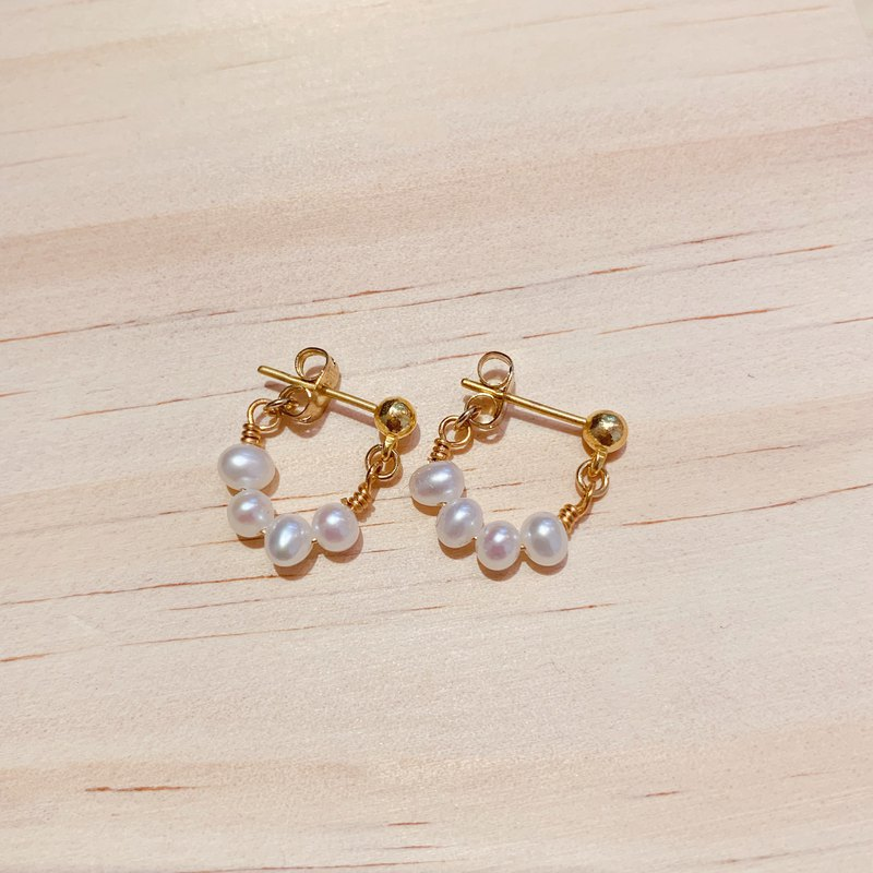 Una Earrings | Freshwater Pearl Anti-Sensitive Earrings (中)