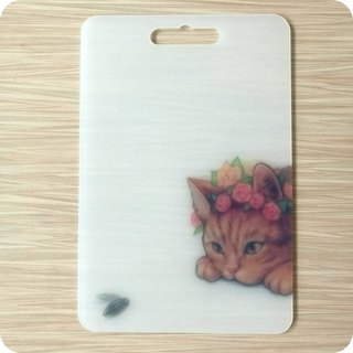 Taiwan home boutique meal kitchen chopping board dishes  cat design environment