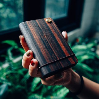 【TREETHER】 Ebony Credit Card Holder