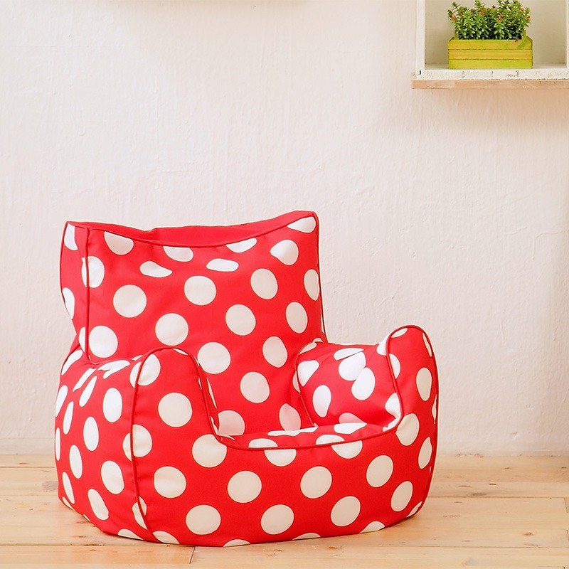 Lazy Bone Mini Sofa. Bébé red (50% discount on the purchase)