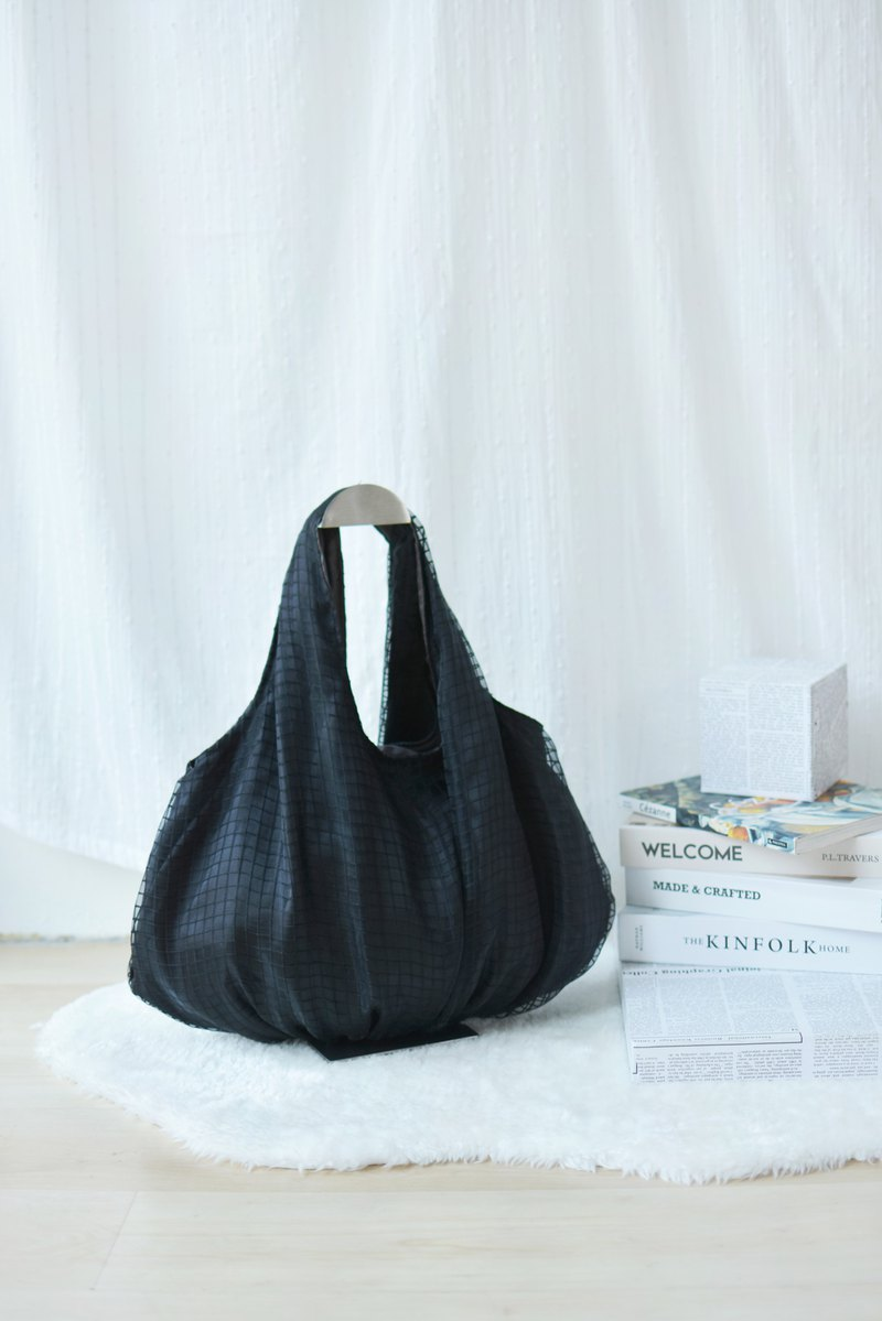 Black Polly Satin Bag