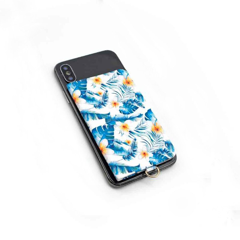 [ekax] mobile phone back stickers (tropical flower dance)