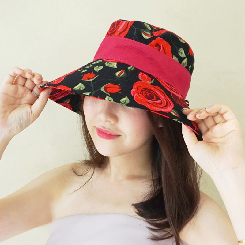 ATIPA Madame Derby Rose Hat (Sun UV Protection)