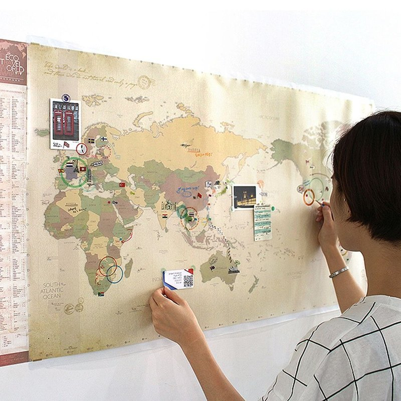 indigo- world map posters (double) -04 exploration brown version (limited home delivery), IDG70251