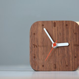 Nordic style table clock square - maple wood clock wall clock