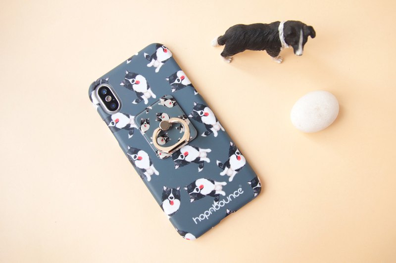 Momo Border Collie Phone Ring Holder