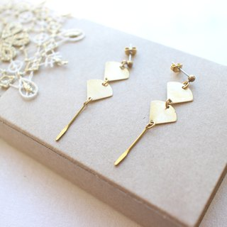 Little trip-Brass earrings