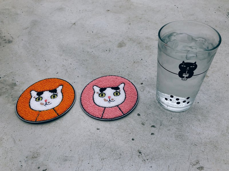 goody bag - badkitty glasses with mei chu coasters set