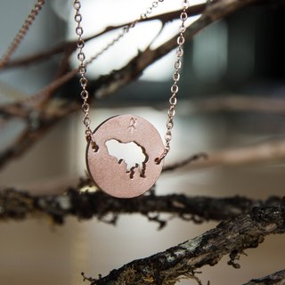 #islandpride 14K Matte Rose Gold Minimalistic ❖ Hong Kong ❖ Necklace by izola.co