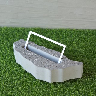 Taiwan Modelling Cement Business Card Holder - Taiwan Souvenir - Taiwan-Grey Cement - Long 15.5CM