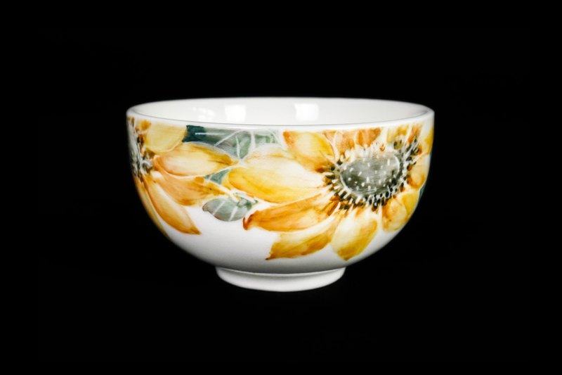 Sunflower Porcelain Bowl