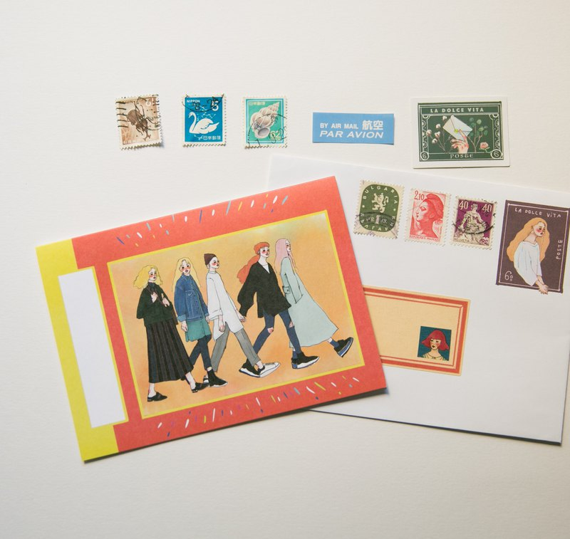 Peer A6 card with sticker envelope