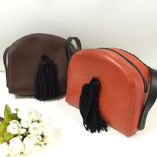Tassel shoulder bag backpack hand-made hand-made leather leather bags customized