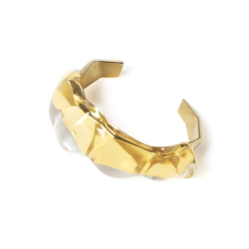PARADOX Gold Irregular Transparent Bracelet
