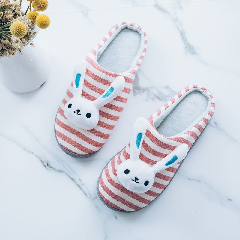 │SWEET‧家│系列‧Sweet cottage, ‧ confused, rabbit head indoor slippers