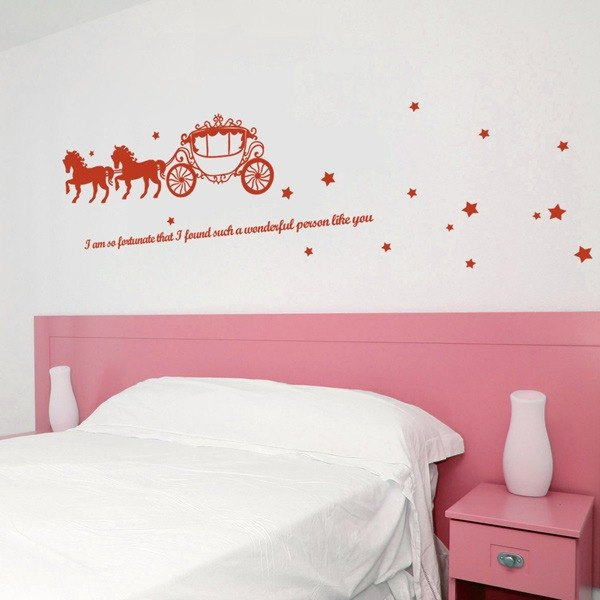 Smart Design Creative wall stickers Incognito ◆ dream carriage (8 colors)