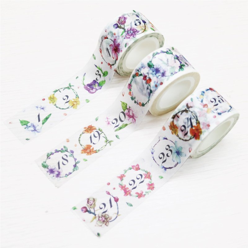 Ching Ching X Simple Life Series CST-250 hand-painted illustration (flowers pay 3 into) paper tape