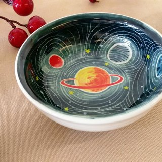 Valentine's Day birthday gift preferred space planet underglaze painted hand-drawn blanks