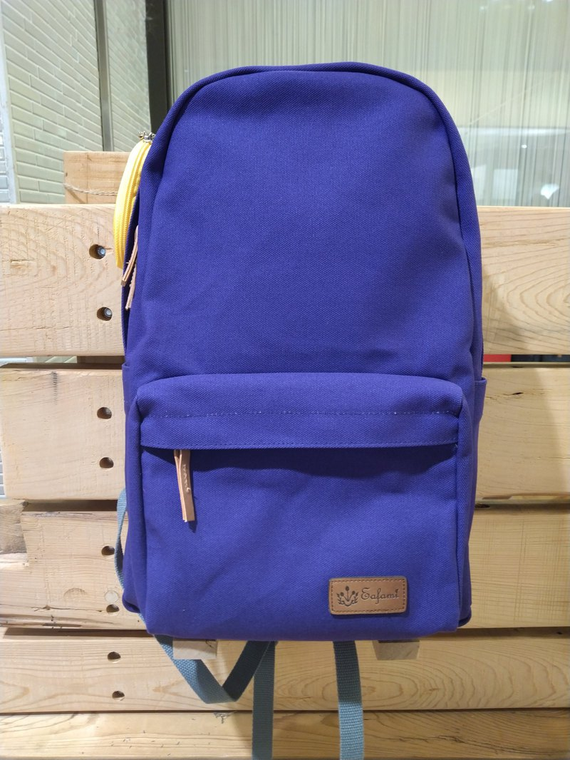 Eafami Cotton Canvas Backpack-Sif Purple (Made in Taiwan) Plus Size Canvas Bag