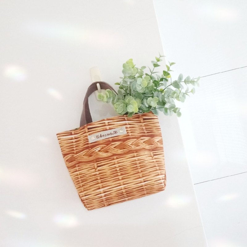[BVS / go! Tote bag] limited number! Bamboo x grass. Customized name cloth label