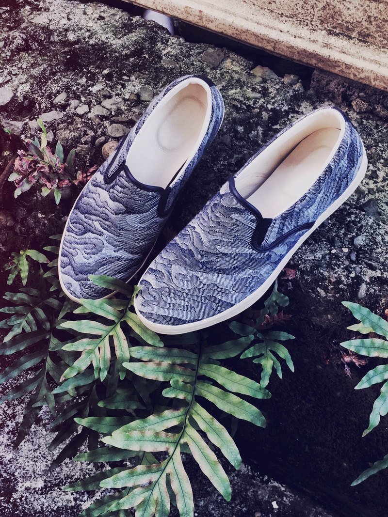 Slip-on simple lazy shoes - fabric design section <<岚云>>