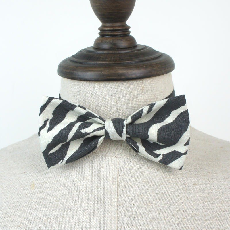 Black and white zebra animal pattern series of hand-tie Bow Tie shooting performance props