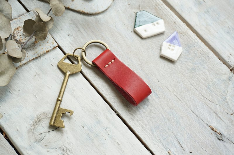 Red -The Leather Key Ring of Basic Style